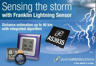 闪电传感器芯片AS3935