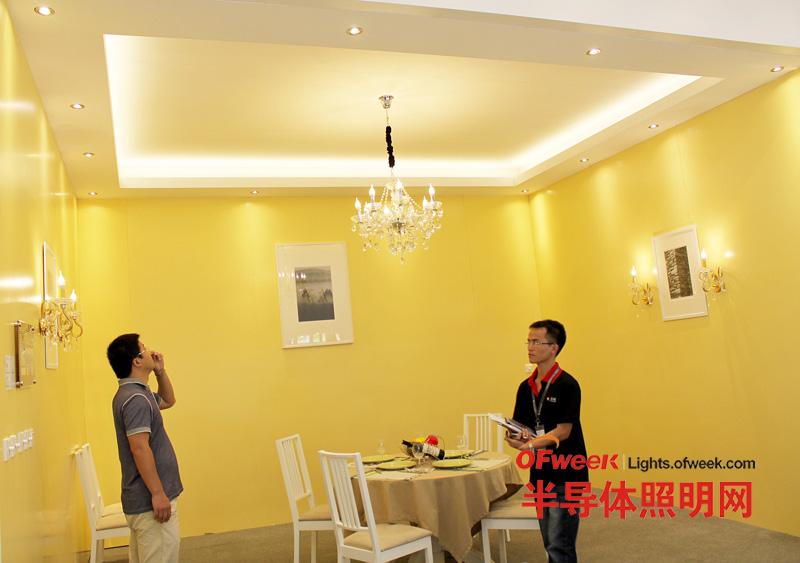众明半导体2012光亚展酒店照明展区