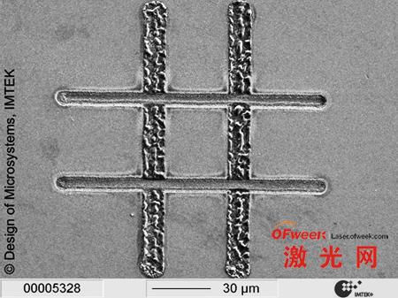 皮秒激光和纳秒激光在同种材料上进行划线加工的不同效果展示