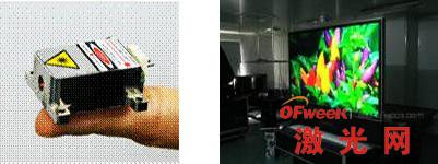 """""""极星""""系列小型化绿光激光器和65寸大屏幕激光电视"""