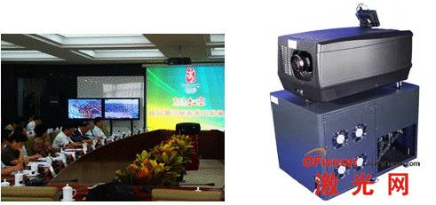 北京奥运会主运行中心和高亮度激光电影放映机
