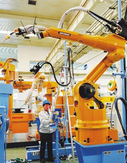 机器人产业的迅速布局 唐山基地异军突起