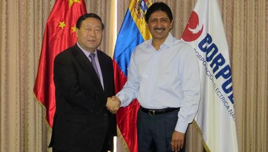 刘振亚会见委内瑞拉国家电力公司总裁