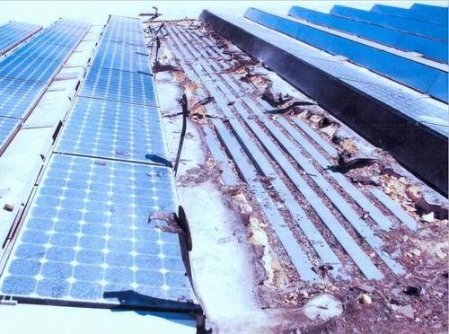 """图2屋顶太阳能光伏电站""""自然""""现场"""