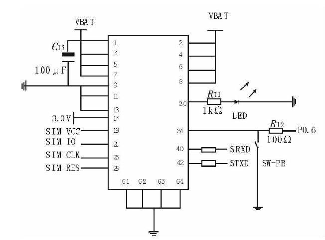 """1)通信电路设计   SIM300提供两个标准的RS232串行接口,用户可以通过串行口使用AT命令完成对模块的操作。串口一共有7个引脚,包括:数据引脚TXD和RXD,状态引脚RTS和CTS以及控制引脚DTR,DCD,RING.串口一可用于数据交换服务,发送传真、GPRS服务和发送AT指令。串口二只包括两个   引脚TXD和RXD,使用串口二之前一定要通过AT指令""""AT+UART""""启用。串口一和串口二不能同时使用。考虑到需要通过模块上网,所以使用全部的串口信号引脚,当模块与主控模"""