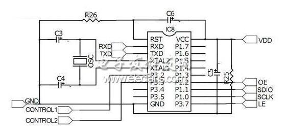 MCU控制电路图