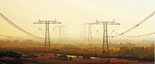 锦苏特高压工程浙A标段贯通塔群。
