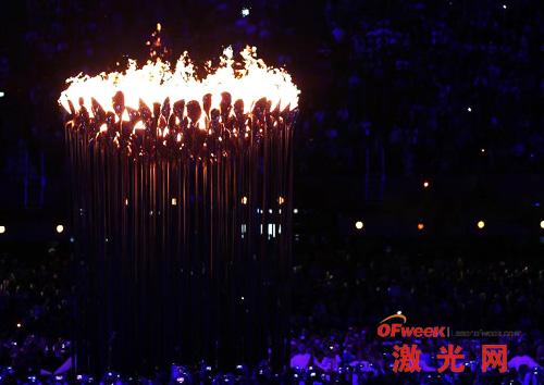 伦敦奥运住火炬点燃