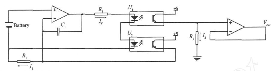 所示的单体电池电压监控电路中