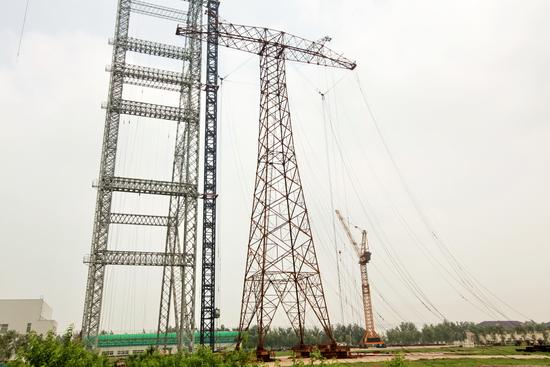 溪洛渡-浙西±800千伏特高压直流输电工程第1基杆塔