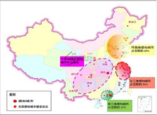 中国感知城市群分布特征
