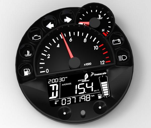 飞思卡尔S12 MagniV单芯片汽车仪表板产品组合喜添新成员