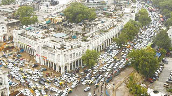 新德里交通瘫痪