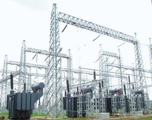 已建成的缅甸Shwesaryan变电站