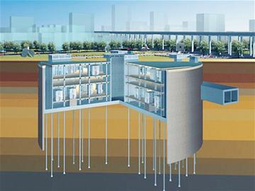 上海500千伏静安地下变电站效果图