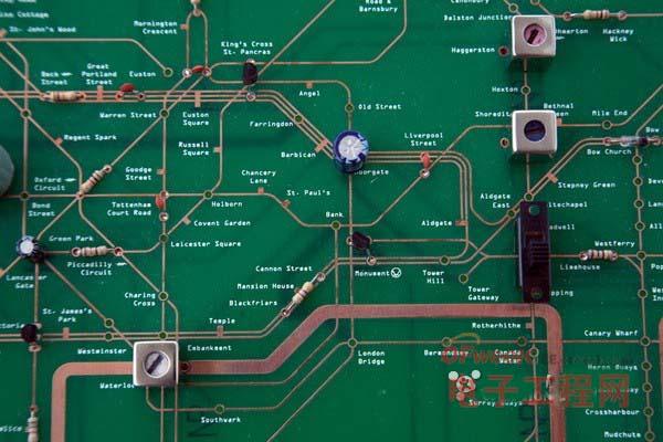 """地铁地图和收音机""""合体""""的电路板 图4"""