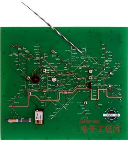 """地铁地图和收音机""""合体""""的电路板 图5"""