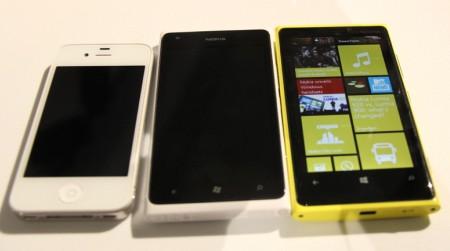 苹果iPhone 4S、Lumia 900与新品920