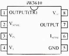 图1 iW3610引脚配置