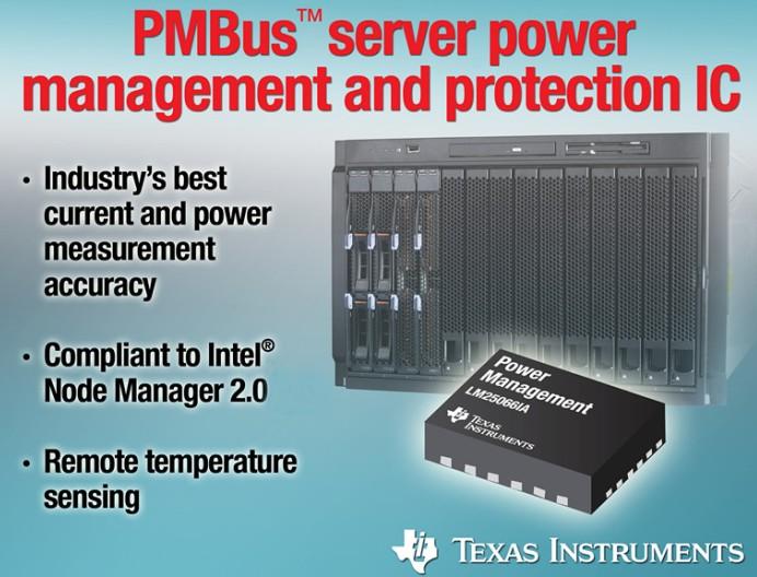 德州仪器推出新款 PMBus™ 服务器电源管理及保护 IC