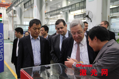 IPG公司高层参访大族激光