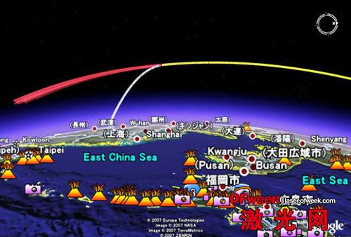 外媒刊载的中国反卫星试验示意图
