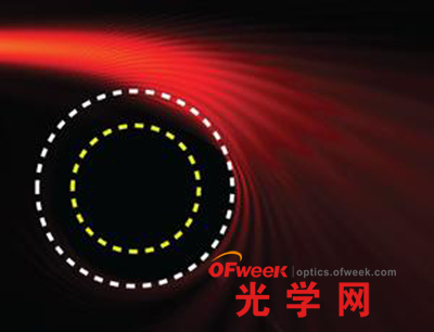 光在穿越光子层时会发生弯曲,与经过黑洞的情形一样