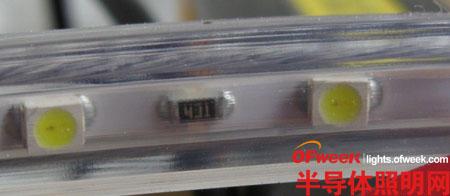 坑爹!LED灯带拆解:纯电阻+整流桥+LED(无电容)