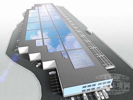 配备太阳能发电系统的物流设施示意图