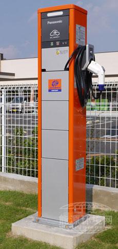 澳德巴克斯新设置的松下制充电桩