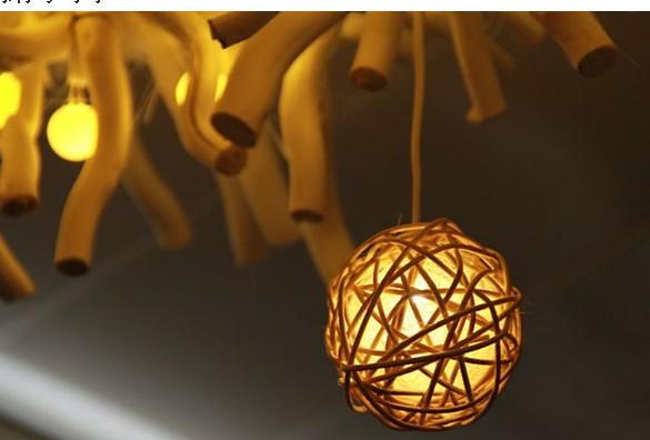 藤球灯举牌素材图片