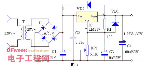 一款可调稳压电源电路设计方案