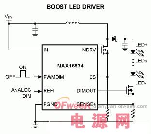 一种锂电池供电、低压高亮度(HB)LED解决方案