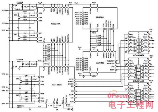 全隔离式锂离子电池监控和保护系统