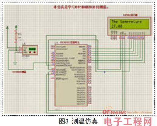 结合ds18b20传感器,来设计数字式温度测量电路,主要包含其包含主控器