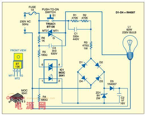 房间照明电路接线图