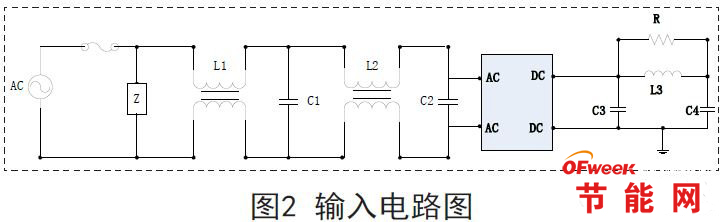 emi滤波电路图如图3所示,emi滤波电路在整流桥前,由差模电容cx1