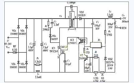 5w恒压/恒流式手机电池充电器电路图图片