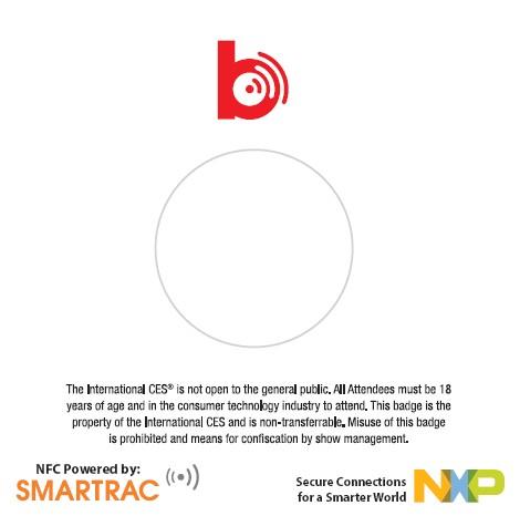 恩智浦为2014年CES展会提供全球首款NFC'轻触交互'入场证