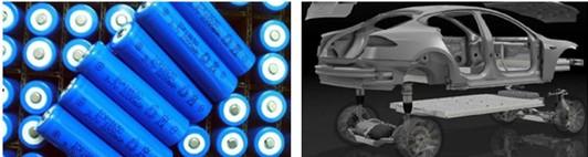 特斯拉电池单体及电池包、车辆结构