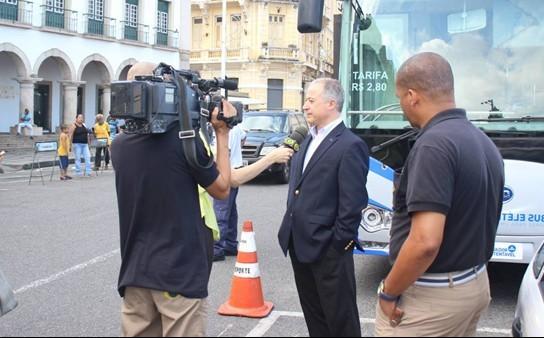 比亚迪巴西销售经理VagnerRigon先生接受媒体采访