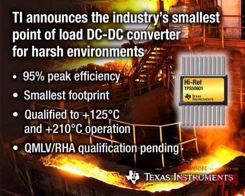 TI推出用于恶劣环境的负载点DC/DC转换器