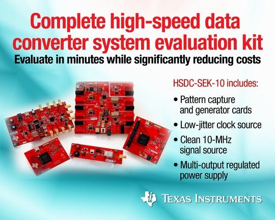 德州仪器推出业界首款完整高速数据转换器系统评估套件