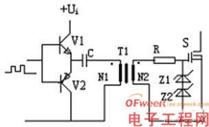 有隔离变压器的互补驱动电路