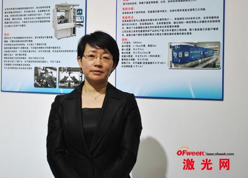 国科激光总经理杨军红女士