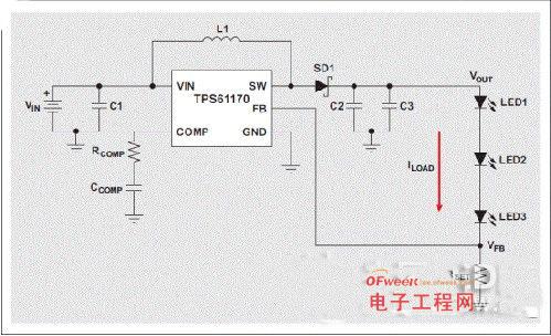 LED驱动器应用中升压转换器的简单开路保护
