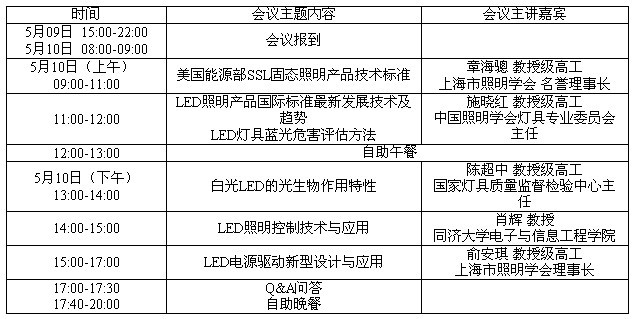 LED照明产品标准与新技术研讨会将于5月在广州召开