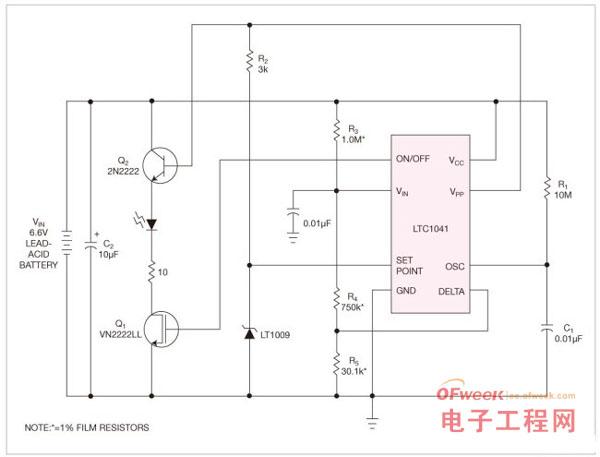 一种可节约电池电能的监控电路设计