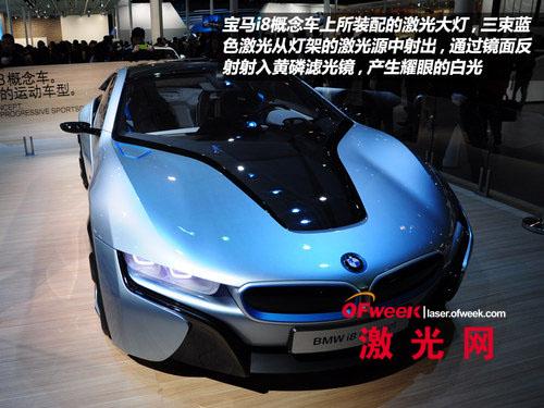 013上海车展宝马发布最新激光大灯技术高清图片