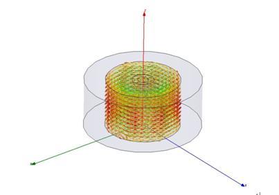 TM模介质谐振器磁场示意图